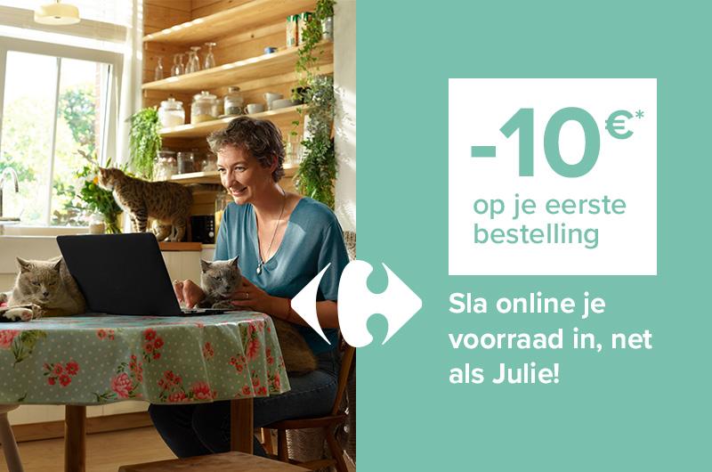 Sla online je voorraad in, net als Julie!