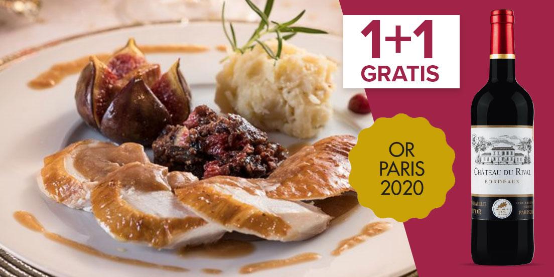 Dinde farcie au foie gras et figues