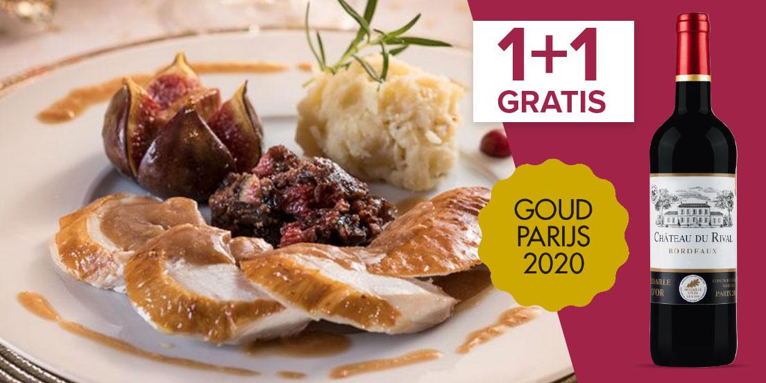 Kalkoen gevuld met vijgen en foie gras
