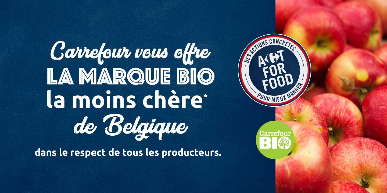 Avec la marque Carrefour BIO, le bio est enfin accessible à tous.