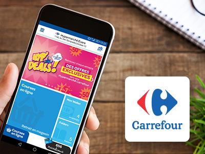 Découvrez l'application mobile de Carrefour