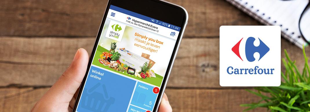 Ontdek de mobiele applicatie van Carrefour