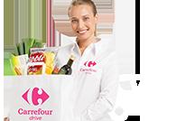 Commandez vos produits chez Carrefour drive