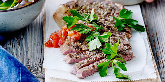 Lamsribstuk met mediterrane groenten