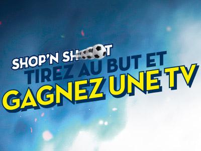 Shop'n Shoot : tirez au but et gagnez une télévision