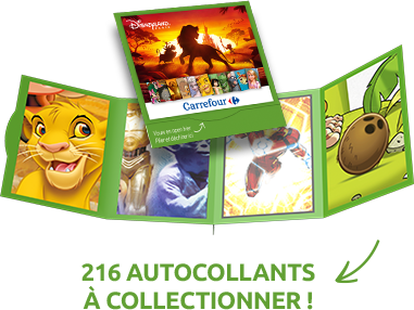 216 autocollants à collectionner !