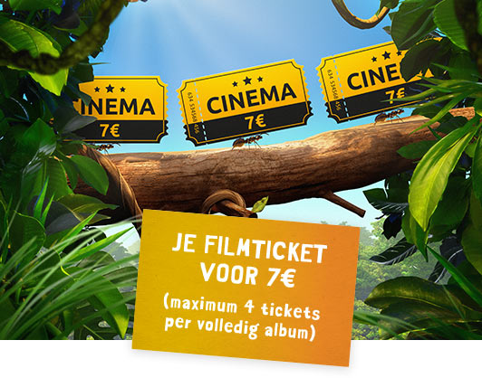 Cinema 7€ JE FILMTICKET VOOR 7€ (maximum 4 tickets per volledig album)