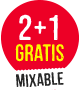 2+1 gratis mixable