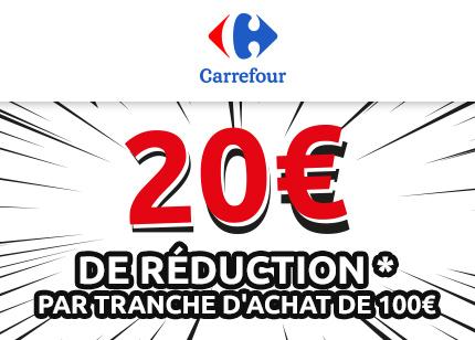 20€ par tranche d'achat de 100€