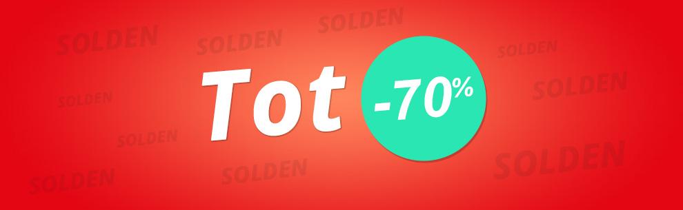 Solden Tot -70%!